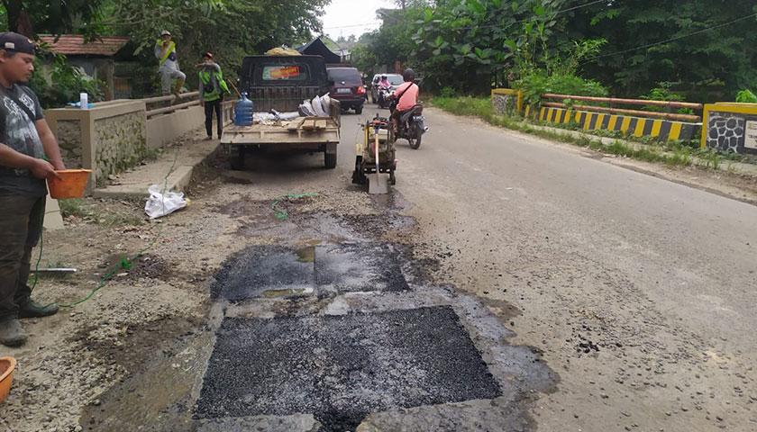 Pemeliharaan Ruas Jalan Serang-Cikande-Rangkasbitung Terus Dilakukan