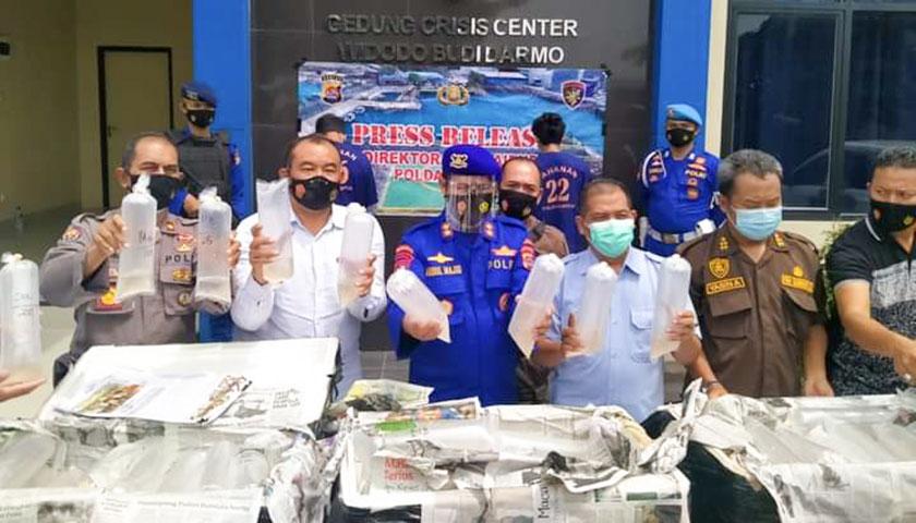 Ditpolairud Polda Banten Gagalkan Penyeludupan Benur Senilai Rp 6 M