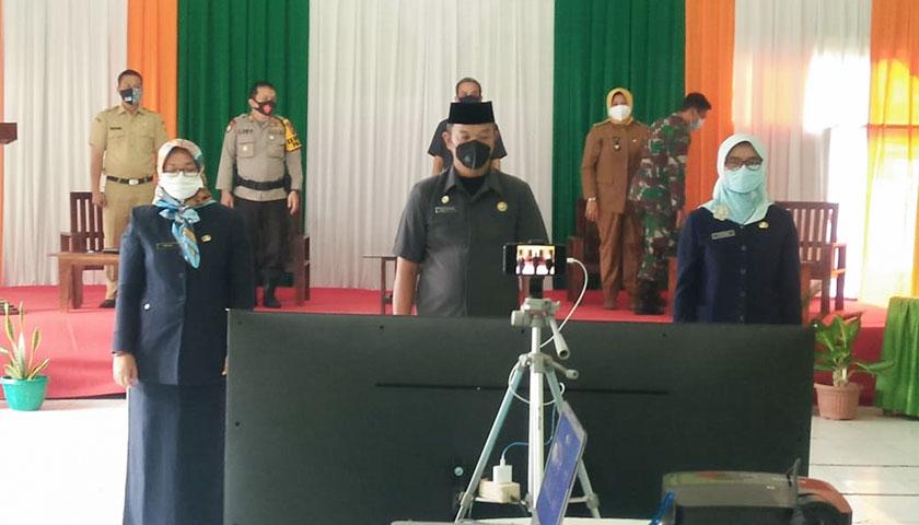 Bupati Bogor Lantik Pejabat Secara Virtual