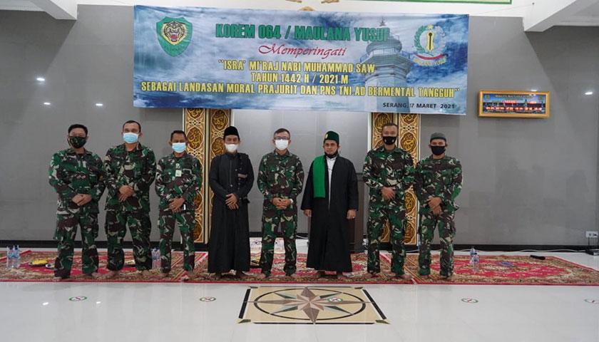 Korem 064 Maulana Yusuf Peringati Isra Mi'raj Nabi Muhammad