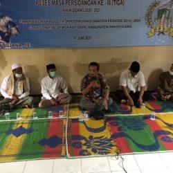 Kecamatan Angsana Jadi Sasaran Reses Masa Persidangan Ke-III Tahun Sidang 2020-2021