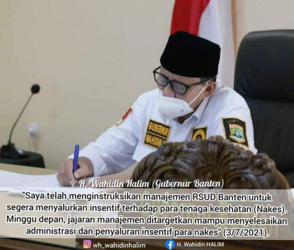 Ditargetkan Honor Nakes Covid-19  RSUD Banten Cair Minggu Depan