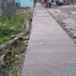 Melalui DD Pemdes Puser Laksanakan Pembangunan jalan rabat beton sepanjang 418.M
